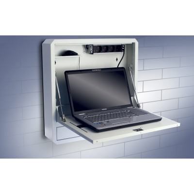 Notebook Safety Box and Accessories for LIM Depth 150 White - Techly Professional - ICRLIM11W2-5