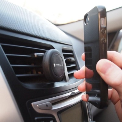 Car Universal Support with Magnets for Smartphone and Tablet Black - Techly - I-SMART-UNITY-4