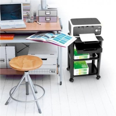Height-Adjustable Smart Cart with Two-Shelves - Techly Np - ICA-MS 404-1
