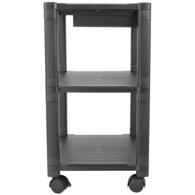 Height-Adjustable Smart Cart with Three-Shelves and Drawer - Techly Np - ICA-MS 405-3