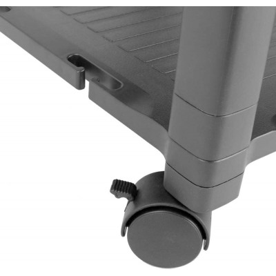 Height-Adjustable Smart Cart with Three-Shelves and Drawer - Techly Np - ICA-MS 405-7