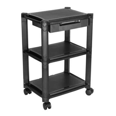 Height-Adjustable Smart Cart with Three-Shelves and Drawer - Techly Np - ICA-MS 405-2