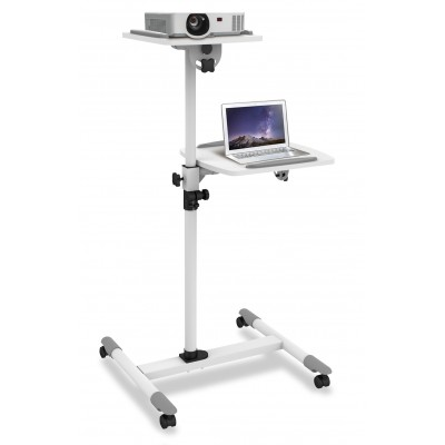 Trolley Support for Projector Beamer Notebook PC Adjustable Shelves - Techly - ICA-TB TPM-6-1