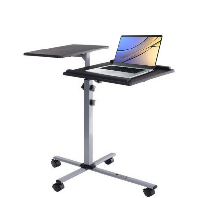 Height-Adjustable Two-Shelf Laptop and Projector Trolley - Techly - ICA-TB TPM-2-2