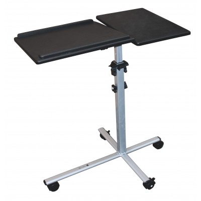 Height-Adjustable Two-Shelf Laptop and Projector Trolley - Techly - ICA-TB TPM-2-5
