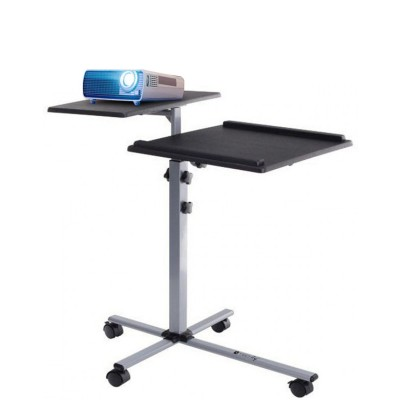 Height-Adjustable Two-Shelf Laptop and Projector Trolley - Techly - ICA-TB TPM-2-1