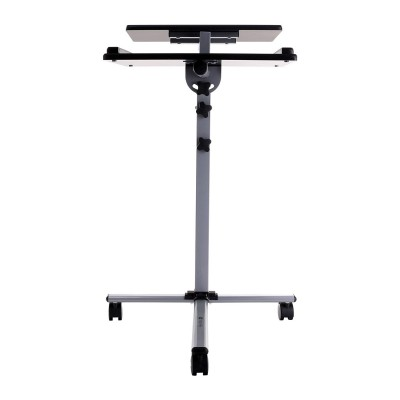 Height-Adjustable Two-Shelf Laptop and Projector Trolley - Techly - ICA-TB TPM-2-6