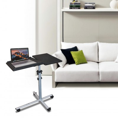 Height-Adjustable Two-Shelf Laptop and Projector Trolley - Techly - ICA-TB TPM-2-8