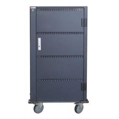 Charging Station Trolley 80 USB Notebook or Smartphone Black - Techly Professional - I-CABINET-80DUTY-3
