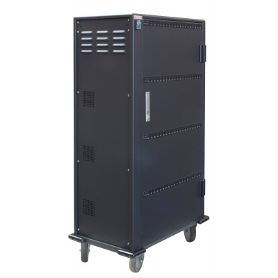 Charging Station Trolley 80 USB Notebook or Smartphone Black - Techly Professional - I-CABINET-80DUTY-4