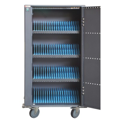 Charging Station Trolley 80 USB Notebook or Smartphone Black - Techly Professional - I-CABINET-80DUTY-2