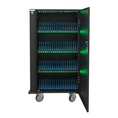 Charging Station Trolley 80 USB Notebook or Smartphone Black - Techly Professional - I-CABINET-80DUTY-1