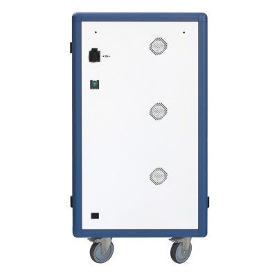 Ventilated USB Charging Station Trolley for 30 Notebook or Smartphone White/Blue - Techly Professional - I-CABINET-30DUTY-3