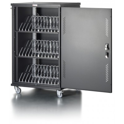 Ventilated Cart Charging Station 36 Notebook or Smartphone Black - Techly Professional - I-CABINET-36D12ATYV-8
