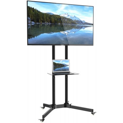"""Floor Trolley with Shelf Support LCD / LED / Plasma 30-65"""" - Techly - ICA-TR6-1"""