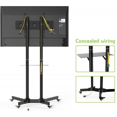"""Floor Trolley with Shelf Support LCD / LED / Plasma 30-65"""" - Techly - ICA-TR6-8"""