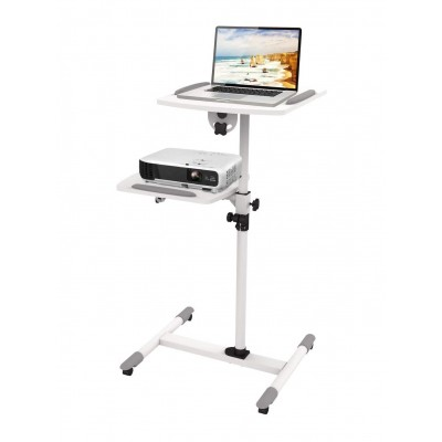 Trolley Support for Projector Beamer Notebook PC Adjustable Shelves - Techly - ICA-TB TPM-6-3