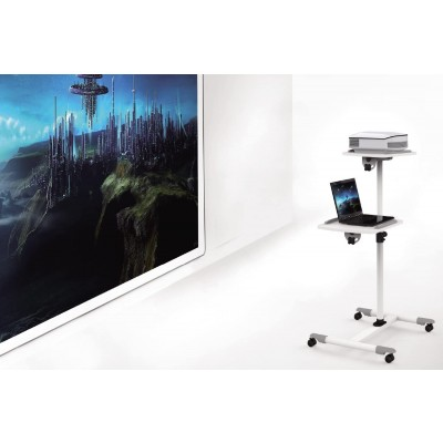 Trolley Support for Projector Beamer Notebook PC Adjustable Shelves - Techly - ICA-TB TPM-6-4