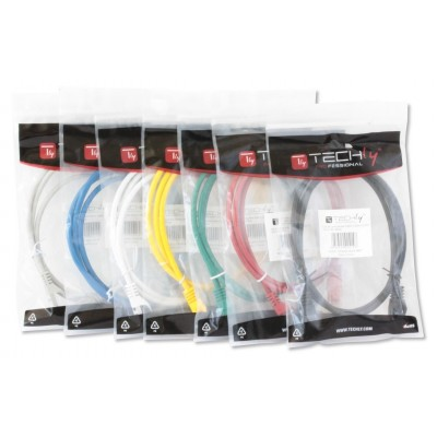 Network Patch Cable in CCA Cat.5E UTP 20m Red - Techly Professional - ICOC CCA5U-200-RET-5
