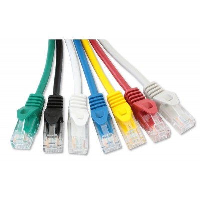 Network Patch Cable in CCA Cat.5E UTP 20m Black - Techly Professional - ICOC CCA5U-200-BKT-4