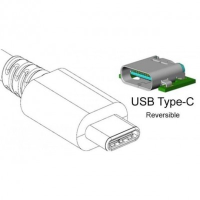 Converter Cable Adapter USB to HDMI-C, C-Port USB Charging - Techly - IADAP USB31-HU31-3