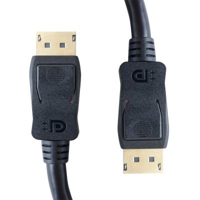DisplayPort 1.4 Audio / Video Cable DP ++ 8K Certified M/M 0.5m Black - Techly - ICOC DSP-A14-005-4