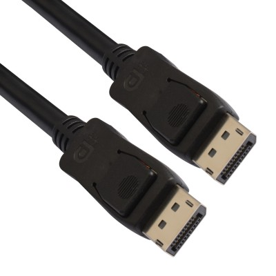 DisplayPort 1.4 Audio / Video Cable DP ++ 8K Certified M/M 1 m Black - Techly - ICOC DSP-A14-010-2