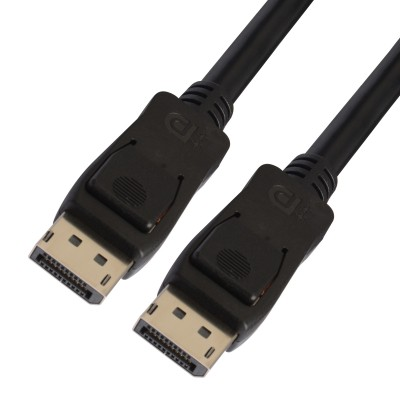 DisplayPort 1.4 Audio / Video Cable DP ++ 8K Certified M/M 1 m Black - Techly - ICOC DSP-A14-010-1