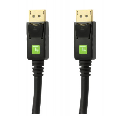 Audio / Video DisplayPort Cable M / M 1m Black - Techly - ICOC DSP-A-010-2