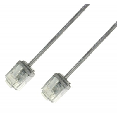 Network Cable Patch Ultra Slim Copper Cat.6 White UTP 0,5 m - Techly Professional - ICOC U6-SLIM-005T-0