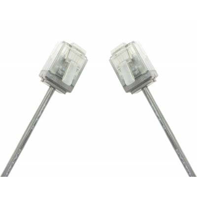 Network Cable Patch Ultra Slim Copper Cat.6 White UTP 1 m - Techly Professional - ICOC U6-SLIM-010T-2