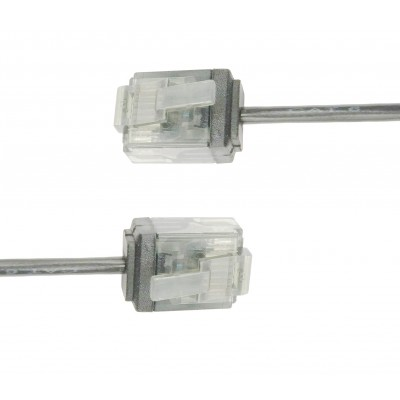 Network Cable Patch Ultra Slim Copper Cat.6 White UTP 10 m - Techly Professional - ICOC U6-SLIM-100T-2