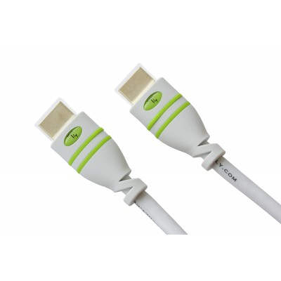 2m High Speed ​​HDMI Cable with Ethernet A/A M/M White - Techly - ICOC HDMI-4-020WH-3