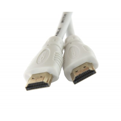 High Speed HDMI with Ethernet cable 3 m White - Techly - ICOC HDMI-4-030NWT-3