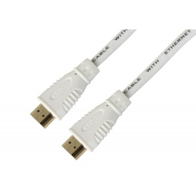 High Speed HDMI with Ethernet cable 3 m White - Techly - ICOC HDMI-4-030NWT-1