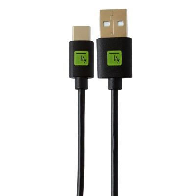 USB Cable type A Male 2.0/USB-C™ Male 0.1m Black - Techly - ICOC MUSB20-CMAM01T-1