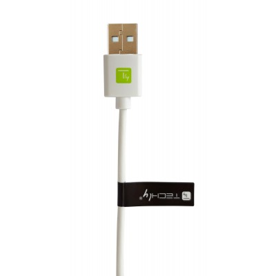 USB Cable type A Male 2.0/USB-C™ Male 2m White - Techly - ICOC MUSB20-CMAM20TW-3