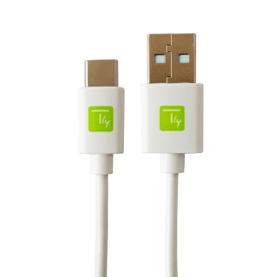USB Cable type A Male 2.0/USB-C™ Male 2m White - Techly - ICOC MUSB20-CMAM20TW-1