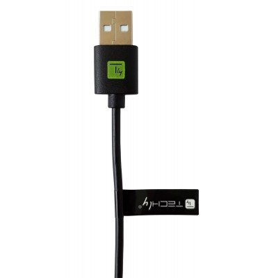 USB Cable Type A Male 2.0/USB-C™ Male 2m Black - Techly - ICOC MUSB20-CMAM20T-3