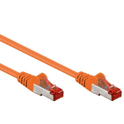 Network Patch Cable in CCA Cat.6 F/UTP 1m Orange Bulk - Techly Professional - ICOC CCA6F-010-OR-1