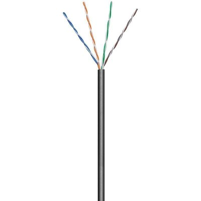 U/UTP Roll Cable Cat.6 CCA 100m Stranded Outdoor Black - Techly Professional - ITP9-FLU-0100LO-1