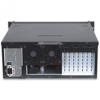 Industrial Rackmount Computer Chassis 400 mm - Techly - I-CASE MP-P4HX-BLK-2