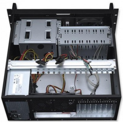 Industrial Rackmount Computer Chassis 400 mm - Techly - I-CASE MP-P4HX-BLK-3