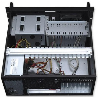 Industrial Rackmount Computer Chassis 400 mm - Techly - I-CASE MP-P4HX-BLK-4