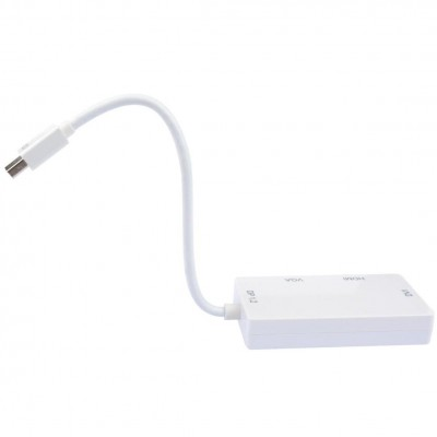 Adapter 3 in 1 Mini DisplayPort (Thunderbolt) to HDMI / DVI / VGA - Techly - IADAP MDP-COMBOF12-8