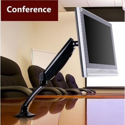 Desk Monitor Arm with Gas Spring for Monitor 10-27 ' Black - Techly - ICA-LCD 512-BK-10