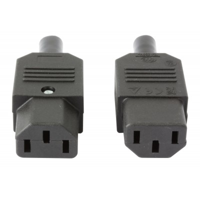 VDE Female Connectors (C13) - Techly - ICC VDE-FTY-2