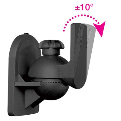 Pair Speakers Wall Brackets Universal Adjustable - Techly - ICA-SP SS28-6