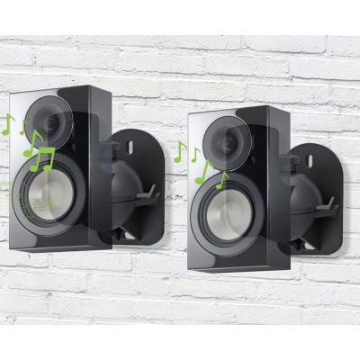 Pair Speakers Wall Brackets Universal Adjustable - Techly - ICA-SP SS28-4