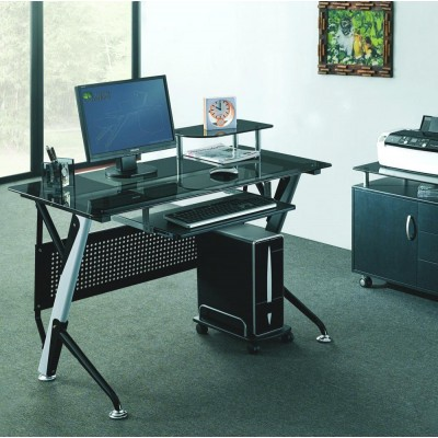 Black Computer Desk - Techly - ICA-TB 3352B-3